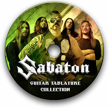 SABATON POWER METAL ROCK GUITAR TABS TABLATURE SONG BOOK SOFTWARE CD