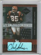Chad Johnson 2004 Leaf Limited Team Trademarks Jersey Patch Autograph AUTO #/50
