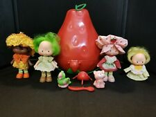 Vtg Kenner Strawberry Shortcake doll, case, & accessories lot Read Description