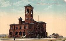 Post Office Galveston Texas To Norway Postcard 1912