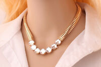 New Fashion Jewelry Crystal Chunky Statement Chain Pendant Necklace Bib Choker