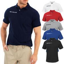 Polo Uomo Givova T-shirt 100% Cotone Maglietta Casual Maglia Mezza Manica Corta