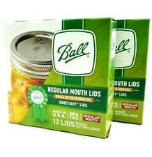 2 Boxes 24 pieces BALL REGULAR MOUTH Mason Canning Lids Discs