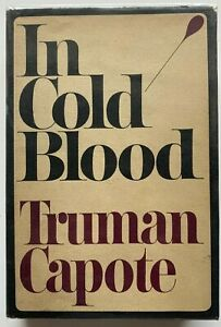 1965 In Cold Blood by Truman Capote, 1st / 1st, FREE EXPRESS shipping worldwide