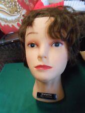 Celebrity Mannequin Woman Head Cosmetology Display Human Hair Bridgette #655