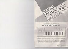 Casio PT-100 Electronic Keyboard Piano 32 Key MANUAL ONLY