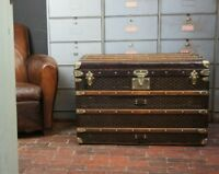 Antique Steamer Trunk by Goyard Aine