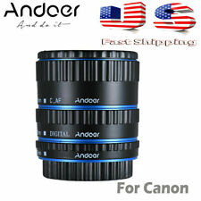 METAL TTL AUTO FOCUS MACRO EXTENSION TUBE RINGS FOR CANON EF EF-S 60D 7D 5D U6B0