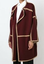 €1450 Authentic CHLOE Burgundy Wool Coat