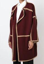 €1450 Authentic CHLOE Burgundy Wool Coat