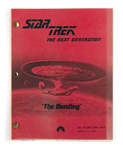 """STAR TREK:TNG ORIGINAL SCRIPT - """"The Bonding,"""" Written by Ronald D. Moore"""