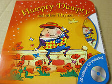 BOARD BOOK AND AUDIO CD HUMPTY DUMPTY AND OTHER RHYMES Brand new Sealed