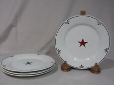 """Pier 1 One """"Celebration"""" Star Appetizer/Salad/Dessert Plates - Set of 4"""