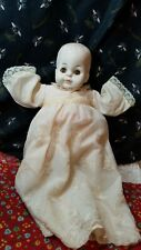 "Vintage 12"" Playmates Vinyl/Rubber Baby Doll Molded Hair Cloth Body Sleepy Eyes"