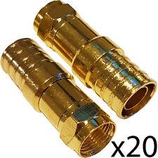20x pro outdoor CT125/WF125 type f hex crimp connecteur plug – épais câble coaxial