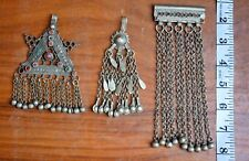 Kuchi Pendant afghan tribal Traditional Jewelry Banjara Tassels Ethnic Stones