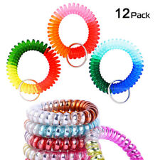 Colorful Rainbow Gradual Change Colors Flexible Spiral Coil Wristband (12Pcs)