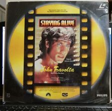 STAYING ALIVE - LASER DISC - JOHN TRAVOLTA - BEE GEES - IN ITALIANO NUOVO SIGILL