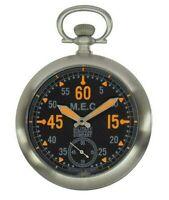 Orologio Da Tasca Militare Movimento Meccanico Con Catena In Acciaio MEC