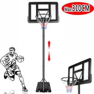 Pro Basketball Hoop Stand Board Portable Backboard Net Metal Gym Outdoor Class A