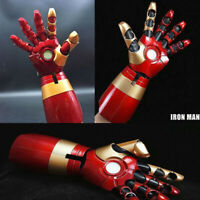 Iron Man Gloves 1:1 LED Light Arm Gloves MK43 Model Cosplay Prop Adult Wearable