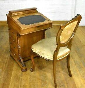 Antique Victorian DAVENPORT writing desk bureau