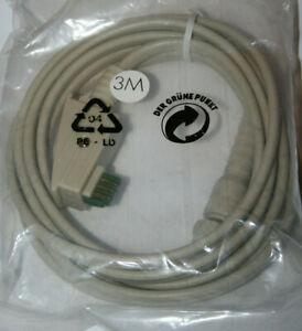 EAD-Kabel EAD-Stecker auf BNC-Stecker Netzwerk-Kabel 50 Ohm 3,0 m