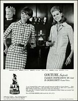 1966 2 women Couture imports fashions by Edith vintage photo Print Ad adL16