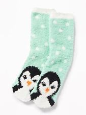 OLD NAVY Cozy Penguin Socks Adult Warm NEW Blue Black White Orange Women Men