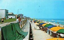 Postcard Virginia Beach Sun Bathers Along the Beach 1970