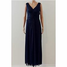 R&M Richards Sleeveless Sparkly Navy Blue Formal Dress Gown Size 6 NWT RTL $110