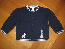 Janie & Jack Sweet Seaside Lighthouse Pelican Cardigan Sweater Navy Blue 12-18M