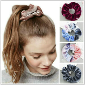 Women Zipper Elastic Hair Rope Girl Hair Ring Velvet Pocket Scrunchies Fashion