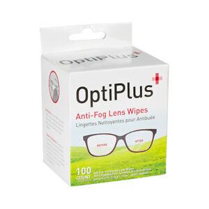 OptiPlus Anti-Fog Lens Wipe - 100 Count