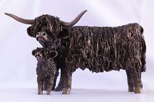 Highland Cow and Calf Standing Bronze Large -Veronic Ballan VB027 - Superb Gift