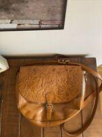 Patricia Nash Leather Floral Shoulder Crossbody Bag