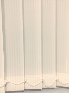 89mm Vertical Blind Replacement Louvre/Slats -  Rome Cream