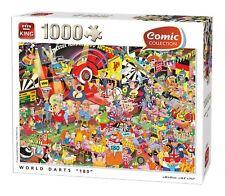"""King le Monde Fléchettes """" 180 """" Puzzle (1000 Pièces)"""