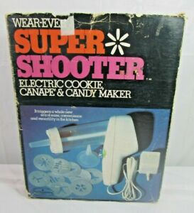 Wear-Ever Super Shooter Electric Cookie Press Gun 70001 Only has 8 Disks