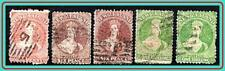 NEW ZEALAND 1864 QUEEN VICTORIA SC#31//37 used CV$405.00 SOUND STAMPS