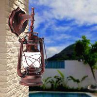 For E27 Bulb Retro Antique Vintage Rustic Lantern Lamp Wall Sconce Light Fixture