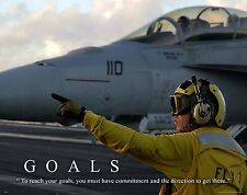 US Military Motivational Poster Art Navy Air Force Jets Soldier Academy  MILT40