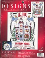 """Designs For The Needle Cross Stitch Kit #309848 Celebrating Christmas 6.25x9.5"""""""