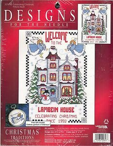 Designs For The Needle Cross Stitch Kit #309848 Celebrating Christmas 6.25x9.5""