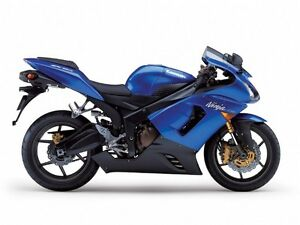 KAWASAKI ZX6R ZX12R ER6F/N Z1000SX CANDY PLASMA BLUE 3 STAGE TOUCH UP PAINT KIT