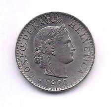 1960-B  Switzerland Twenty  Rappen--Very Strong Details!!