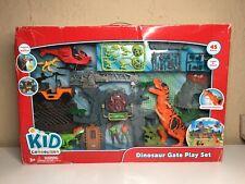Kid Connection Dinosaur Gate Play Set 46 Piece Set W/ Lights & Sounds Figures