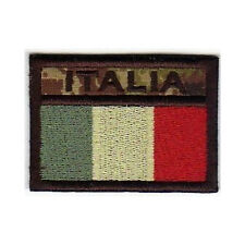 [Patch] BANDIERA ITALIA softair bassa visibilità cm6,5x4,5 ricamo ITALY -446