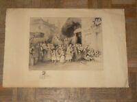 Gravure Eau Forte Signée Omer Bouchery Bosquets Gloriettes Tirage N° 115 / 300