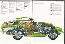 1964 MASERATI MISTRAL 3500GT  2-page Cutaway Illustration